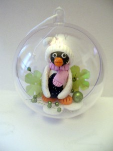 modelage, porcelaine froide, pingouin